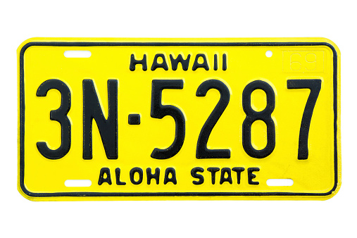 Hawaii Number Plate