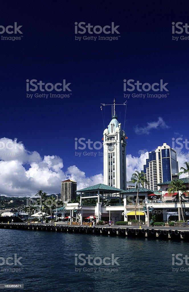 USA Hawaii O'ahu, Honolulu, Aloha Tower. stock photo