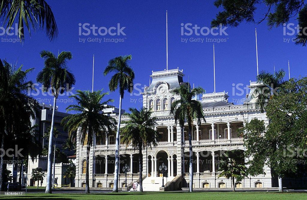 USA Hawaii O'ahu, Honolulu, Iolani Palace. stock photo