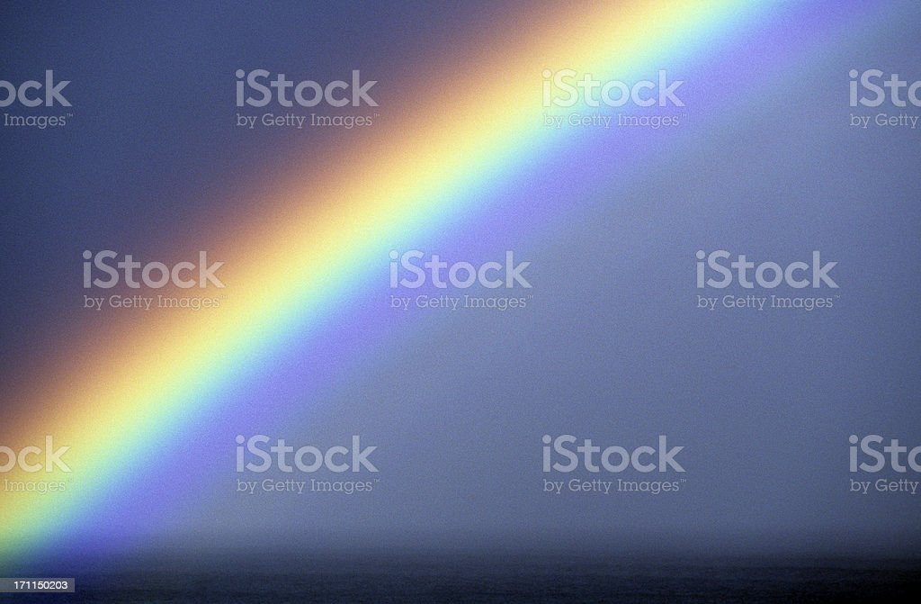 USA Hawaii O'ahu, North Shore, Rainbow. royalty-free stock photo