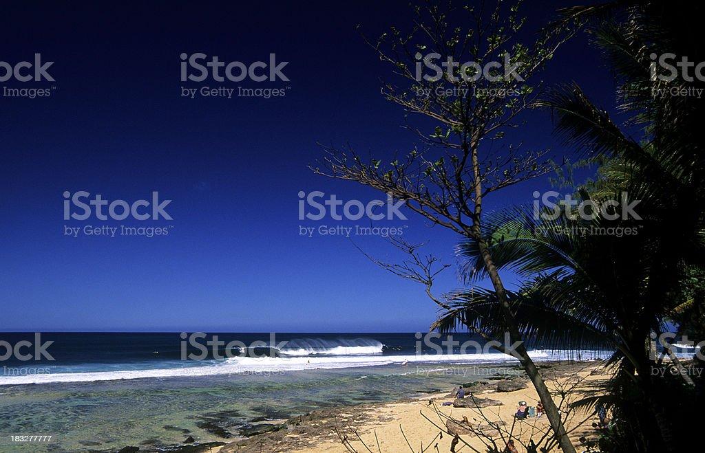 USA Hawaii O'ahu, North Shore, Rocky Point. royalty-free stock photo
