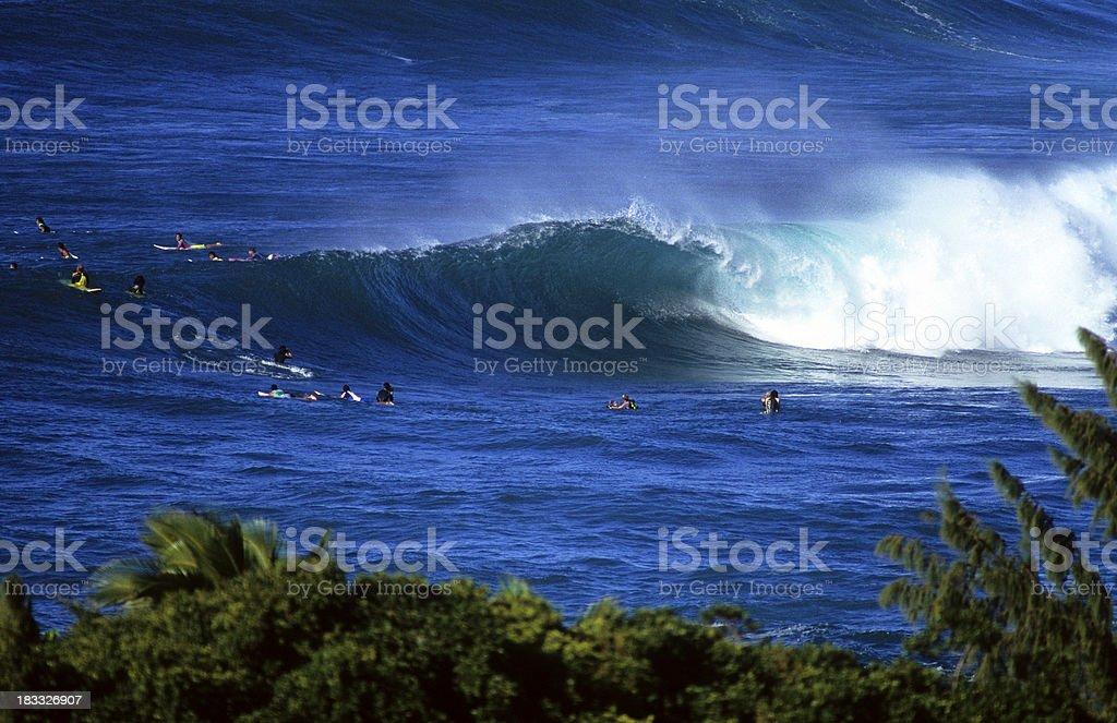 USA Hawaii O'ahu, North Shore, Sunset Beach. stock photo