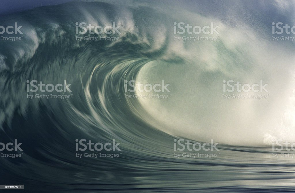 USA Hawaii O'ahu, North Shore, Waimea Bay. stock photo