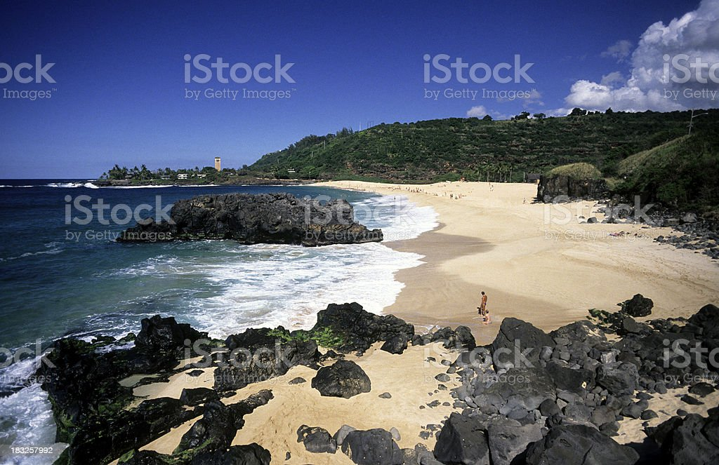 USA Hawaii O'ahu, North Shore, Waimea Bay. royalty-free stock photo