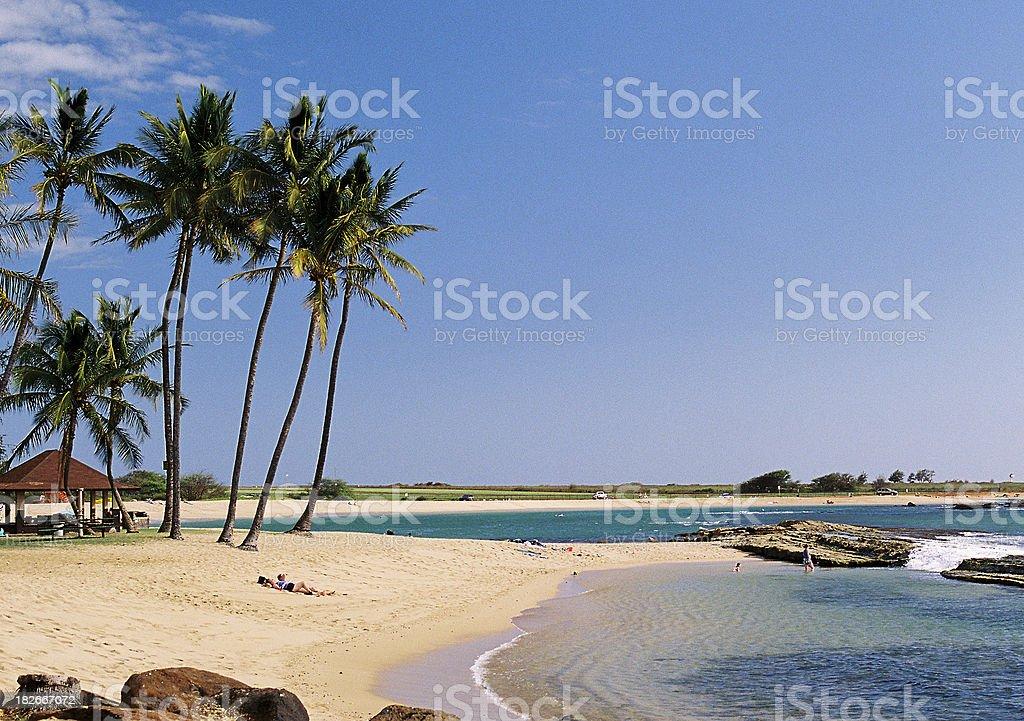 Hawaii pacific ocean Beach landscape royalty-free stock photo