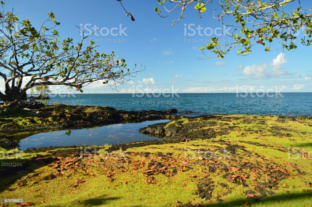 Hawai paraíso al atardecer, Big Island, Hawai, USA, EEUU - foto de stock