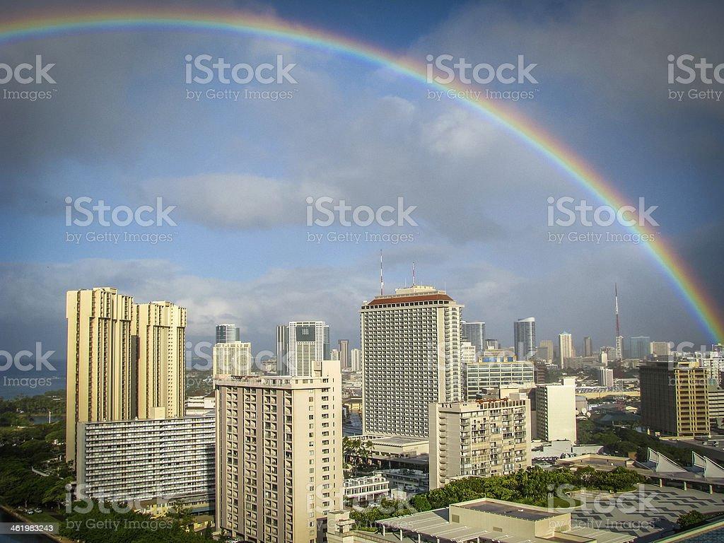 Hawaii Rainbow stock photo