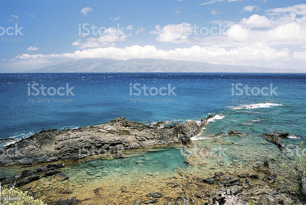 Hawaii snorkel swim pool scenic stock photo