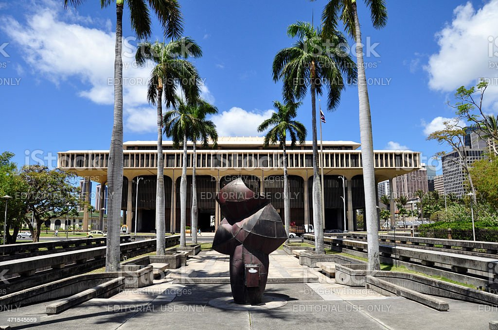 Hawaii State Capitol Building - foto stock