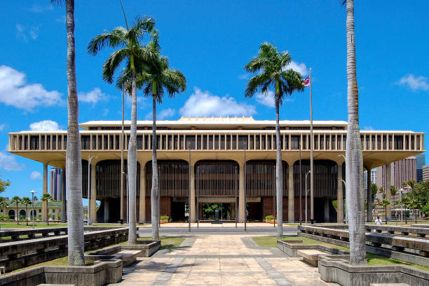 Hawaii State Capitol - Honolulu stock photo