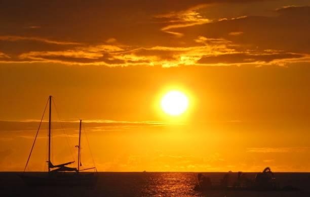 Hawaii Sunset stock photo