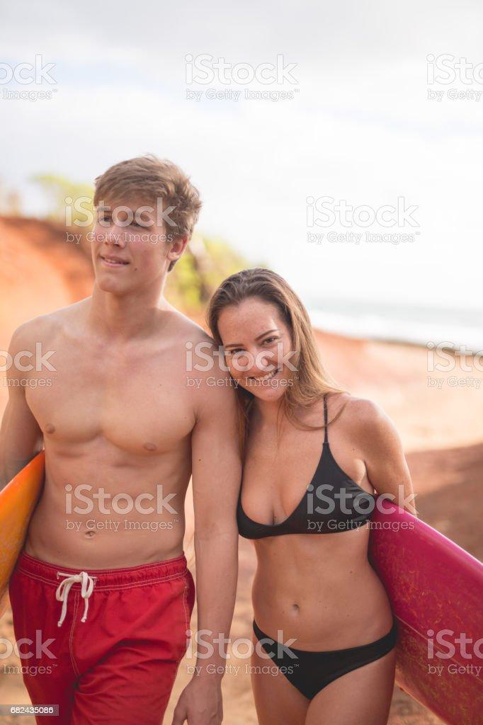 Hawaii Surf Buddies royalty-free stock photo