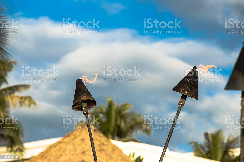 Hawaii Tiki-Fackeln Lizenzfreies stock-foto
