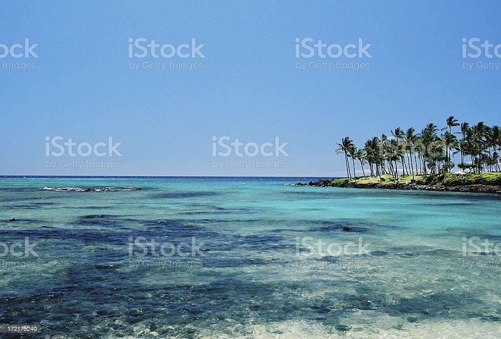 Hawaii turquoise bay royalty-free stock photo