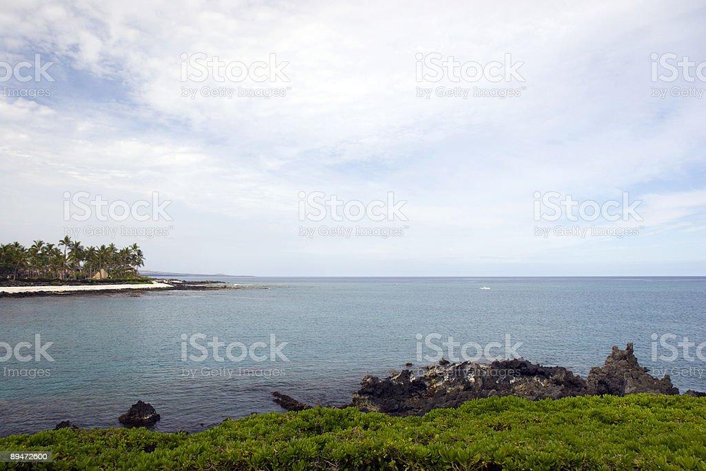 Гавайские Вулканический побережье Кона Остров Стоковые фото Стоковая фотография