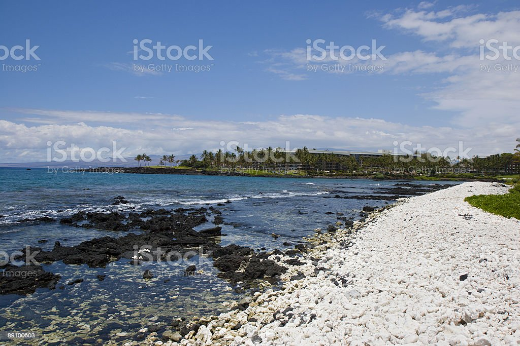 Hawaii Volcanic Coast of Kona Island Resort royalty-free stock photo