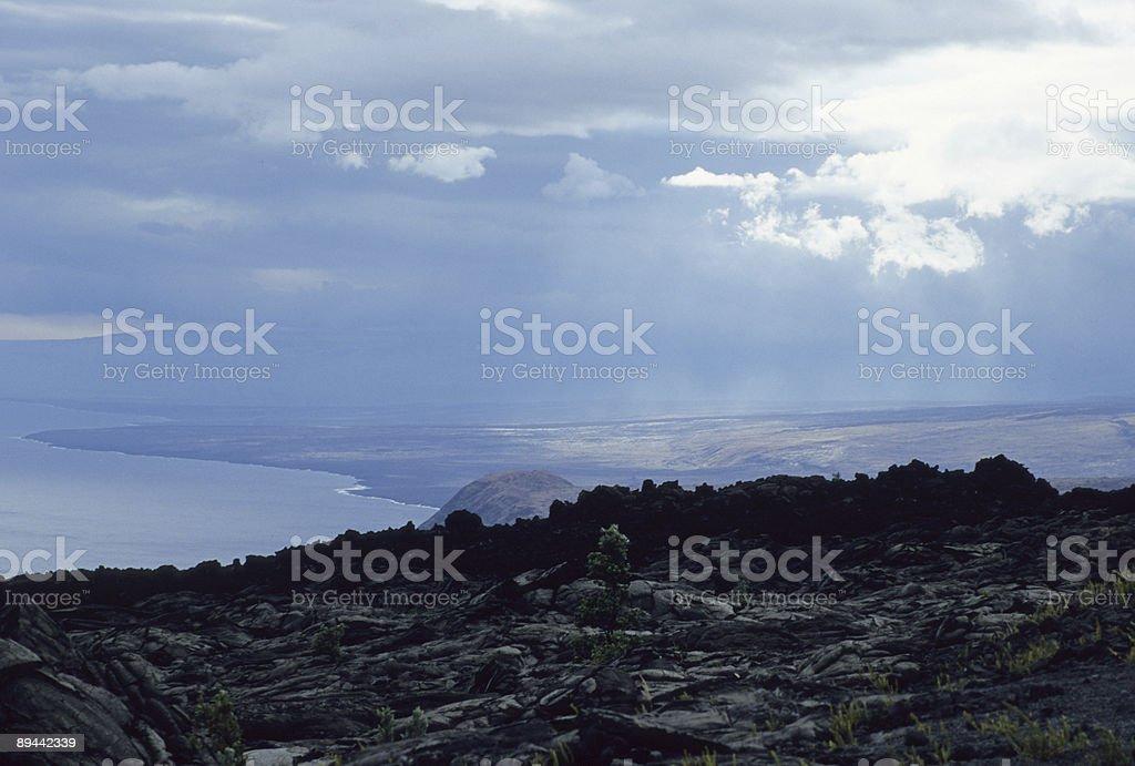 Hawaii Volcanic National Park stock photo