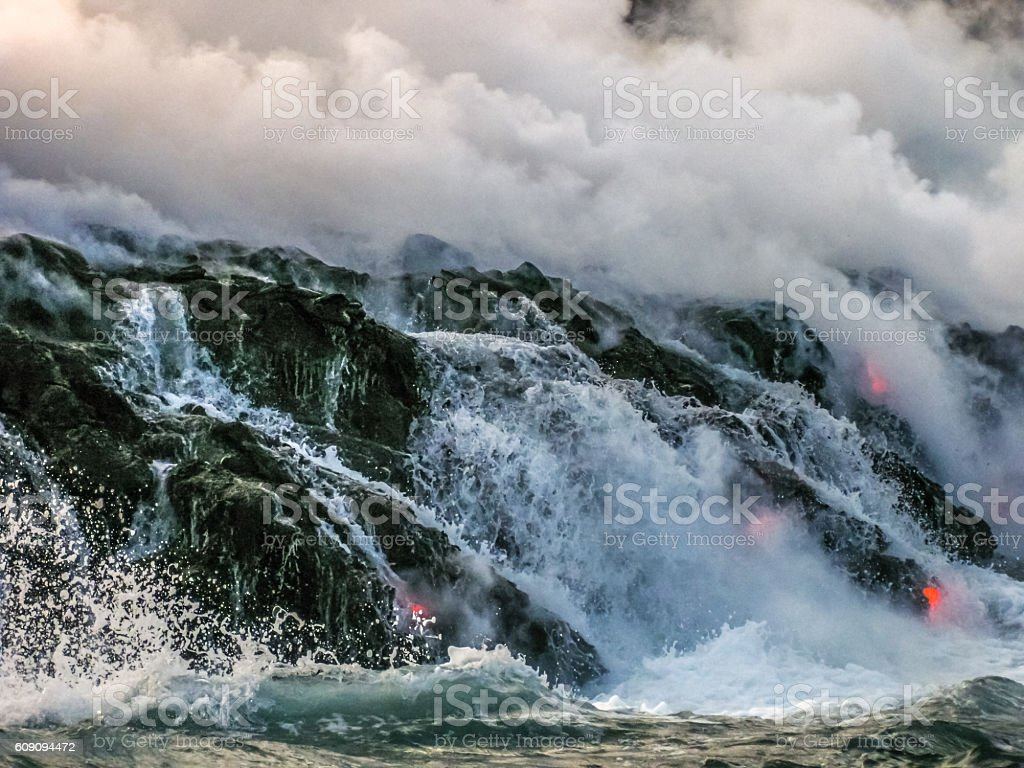 Hawaii Volcanoes National Park stock photo