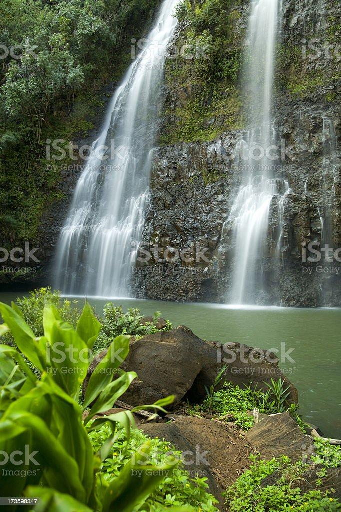 Hawaii waterfall. royalty-free stock photo
