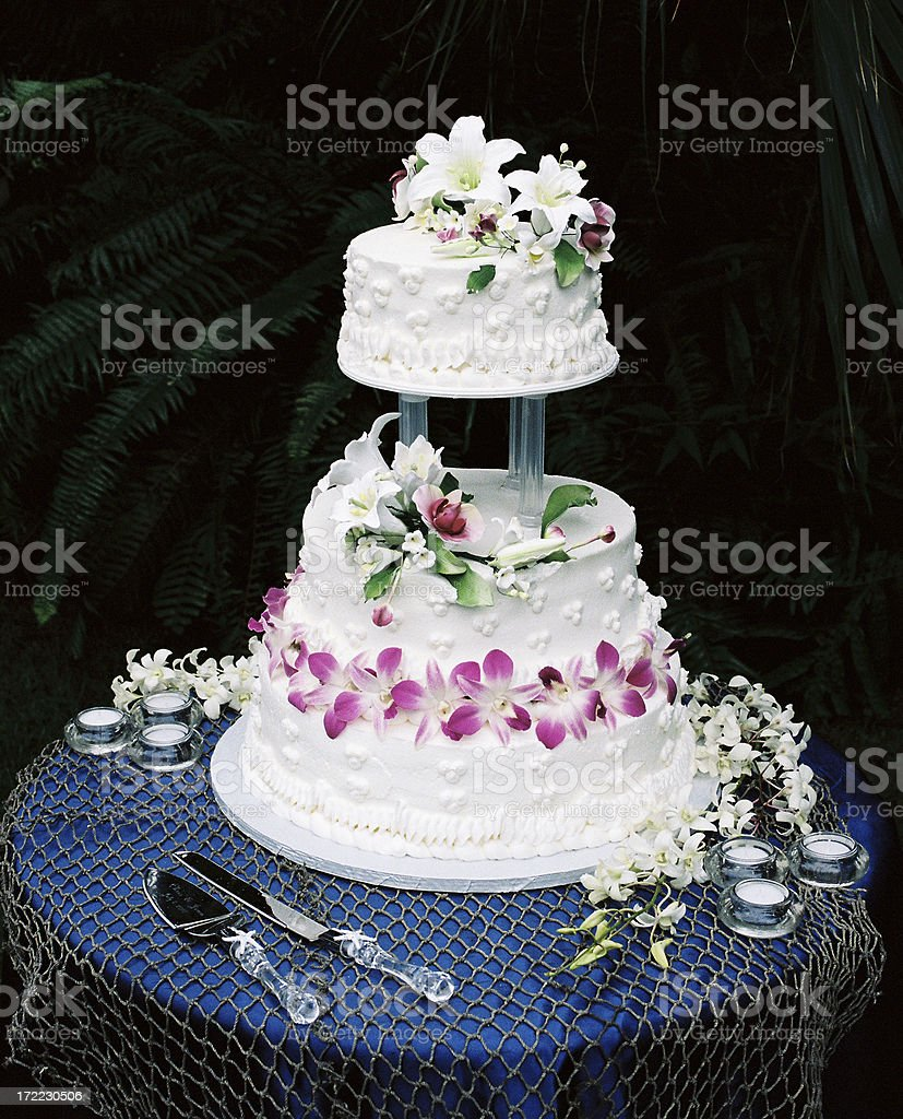 Hawaii Wedding cake royalty-free stock photo