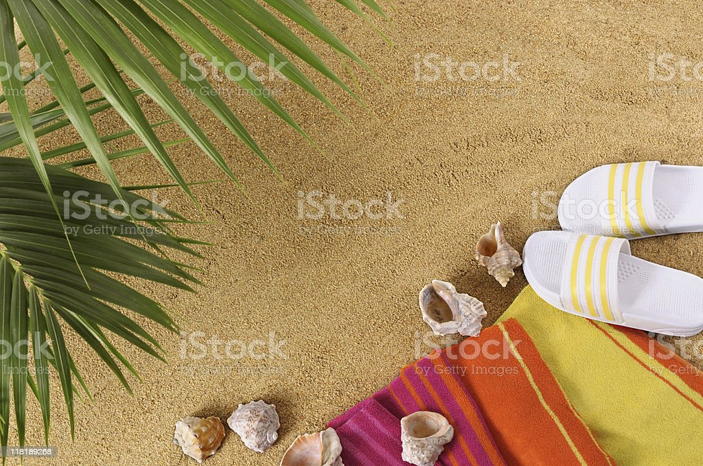 Hawaiian beach background stock photo
