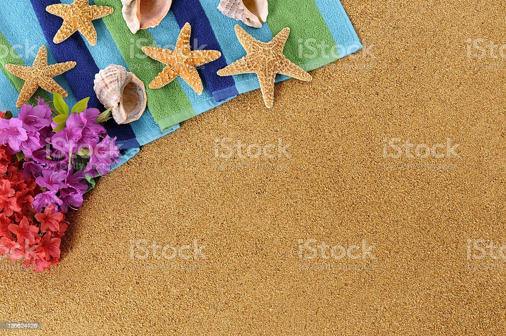 Hawaiian beach background with copyspace royalty-free stock photo