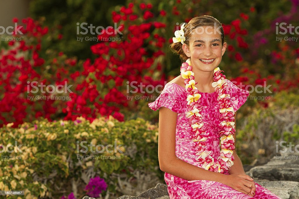 Hawaiian Beauty royalty-free stock photo