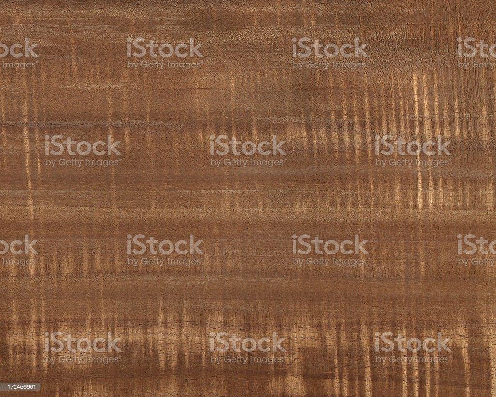 Hawaiian curly cut Koa wood stock photo