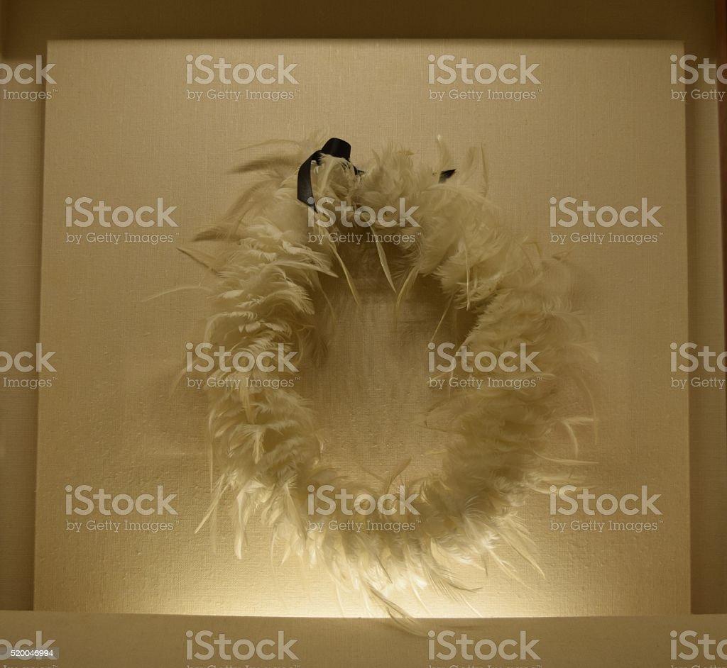 Hawaiian Feather Lei 2 stock photo
