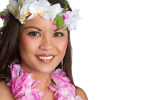 hawaiian girl - hawaiian ethnicity stock photos and pictures