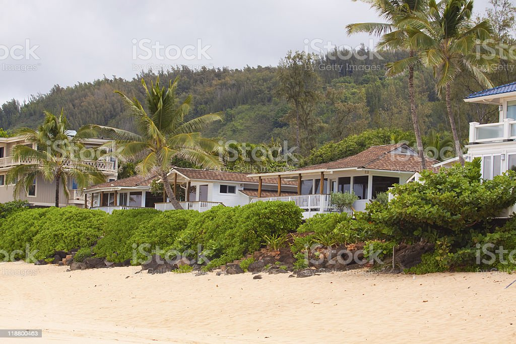 Hawaiian House Rentals stock photo