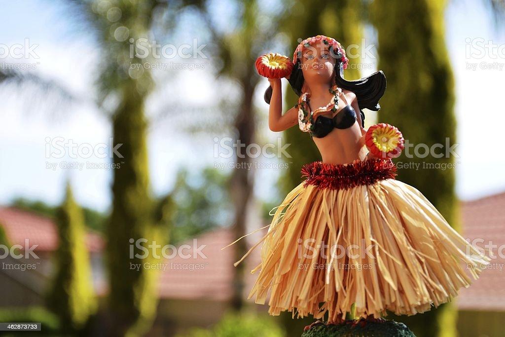 Hawaiian Hula Dancer Doll stock photo