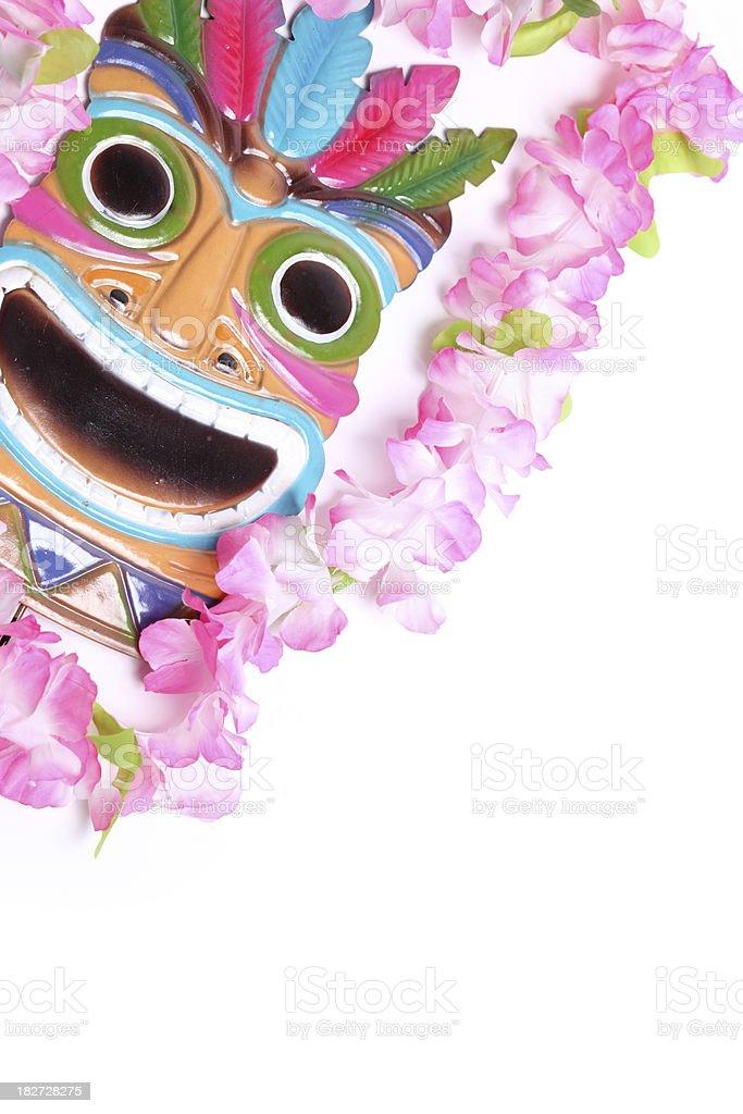 Hawaiian Mask stock photo