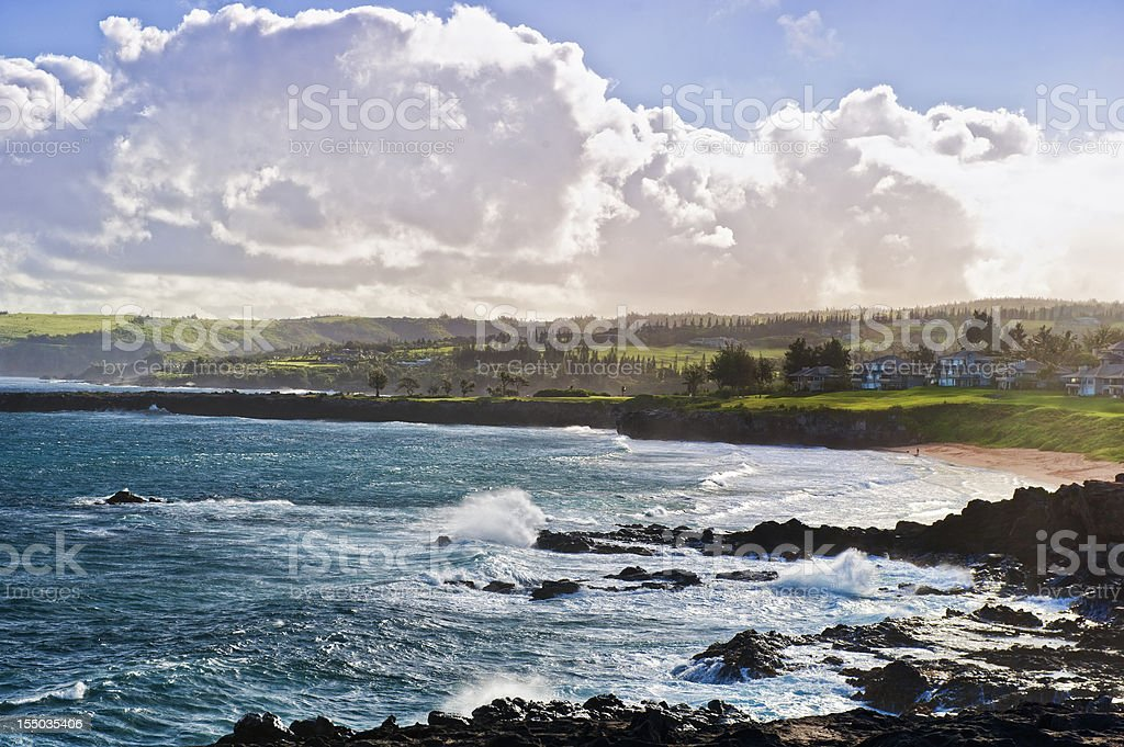 Hawaiian North Shore stock photo