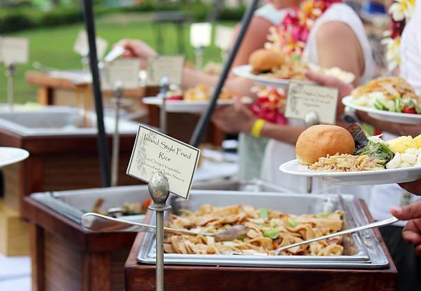 Hawaiian Outdoor Buffet stock photo