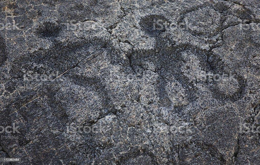 Hawai`ian Petroglyphs royalty-free stock photo