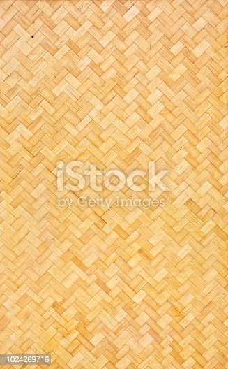 The Lauhala weaved matting. A traditional Polynesian and Hawaiian native weaved mat. It is traditionally used a flooring, wall covering, and clothing wears. A traditional pattern texture for the Hawaiian island.