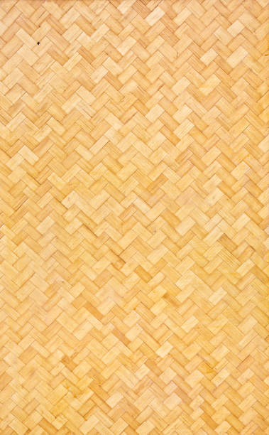 Hawaiian Polynesian Lauhala Matting Texture stock photo