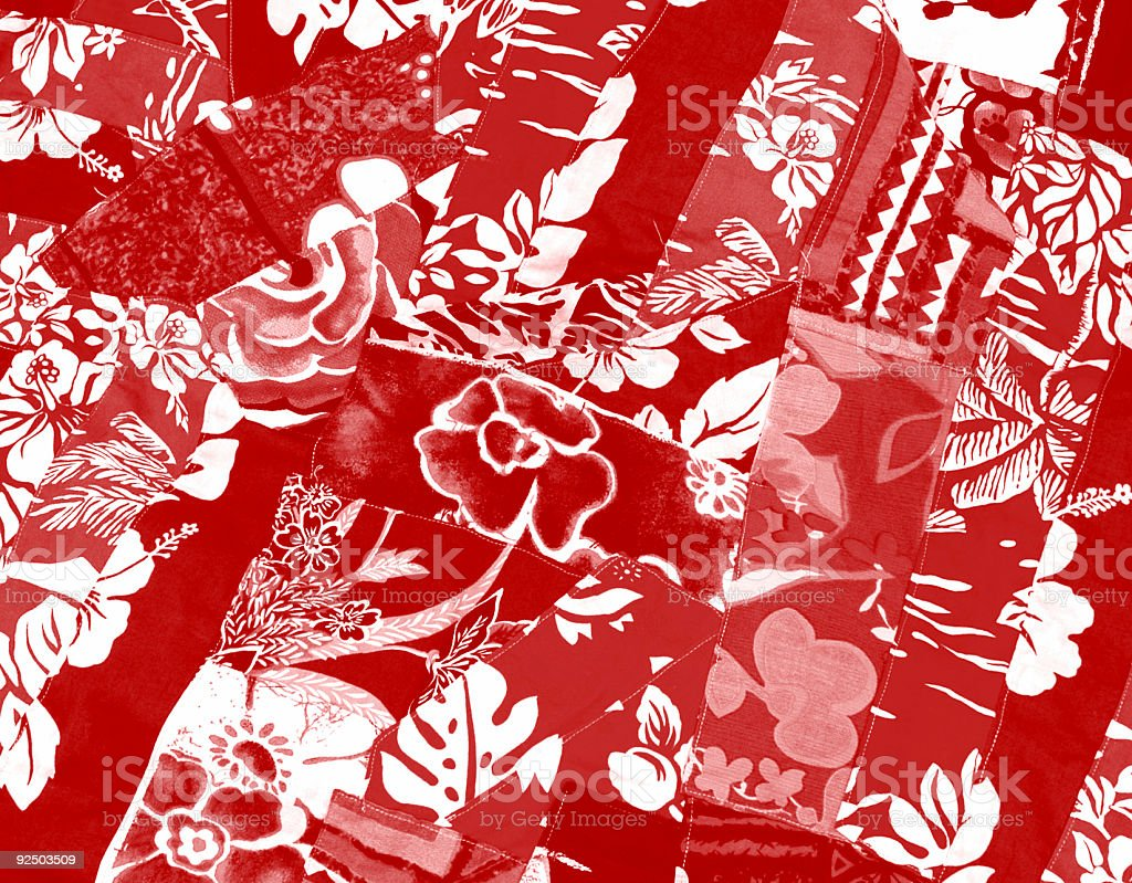 Hawaiian Quilt  Background royalty-free stock photo
