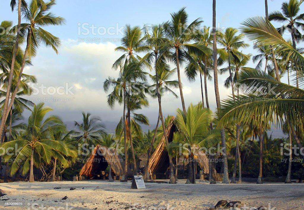 Hawaiian Sacred Site stock photo