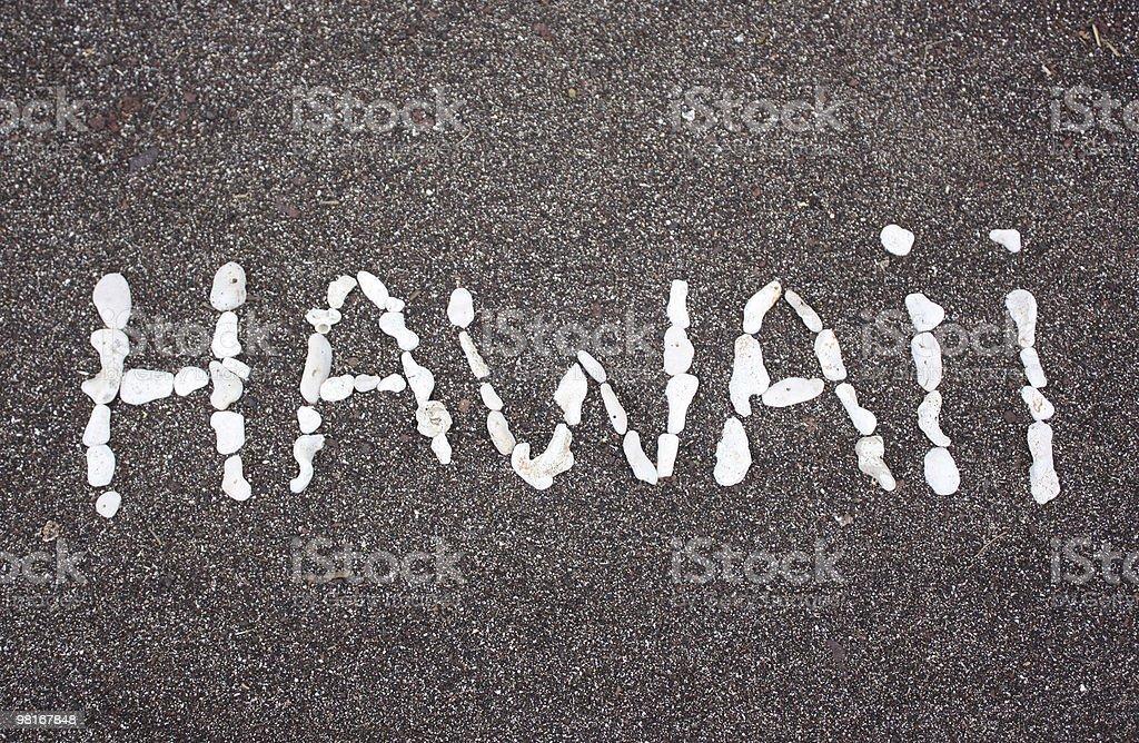 Hawaiian Sand royalty-free stock photo