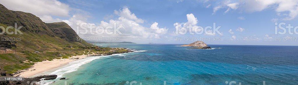 Hawaiian Shoreline Panorama royalty-free stock photo