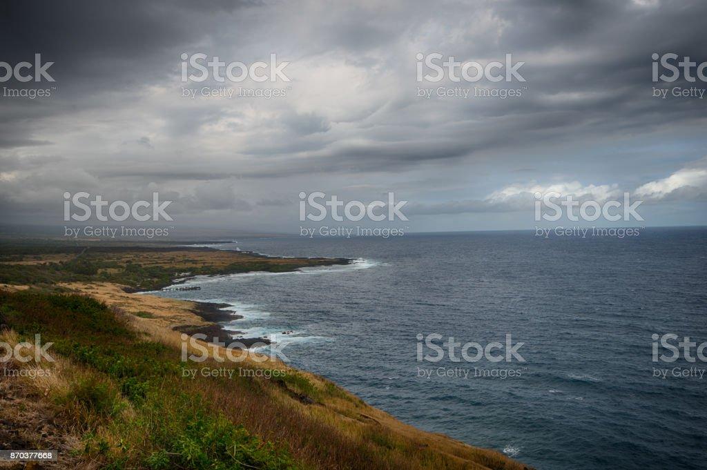 Hawaiian shoreline stock photo