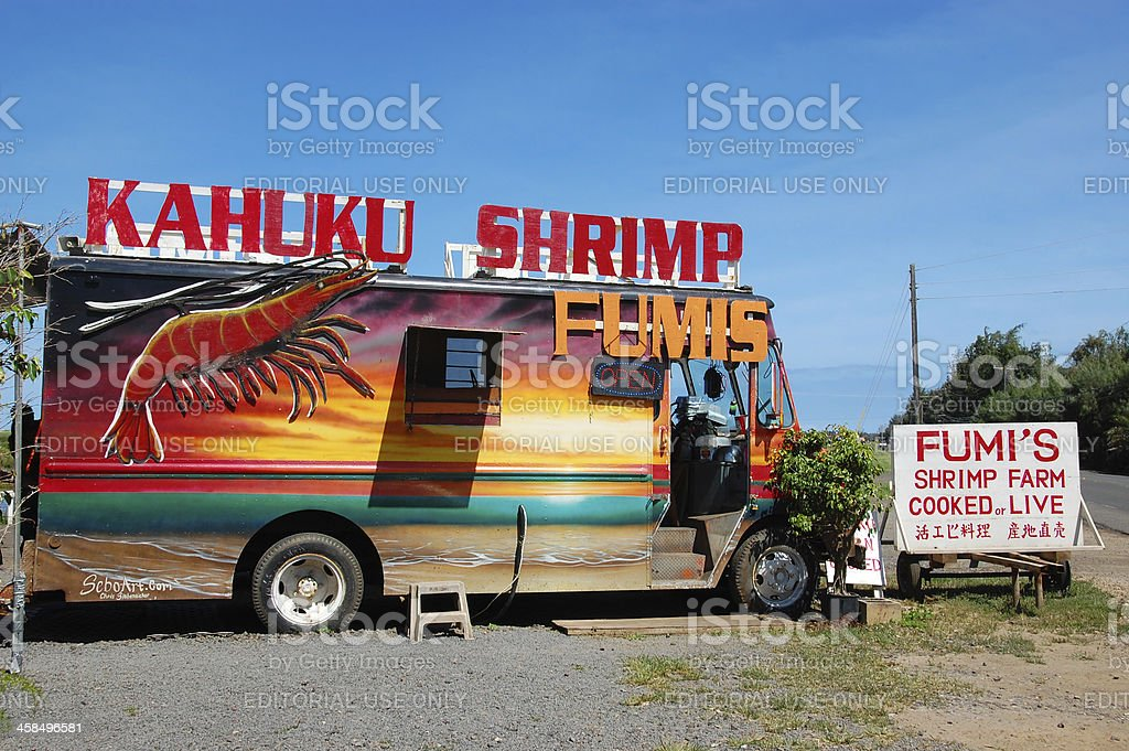Hawaiian Shrimp Truck stock photo
