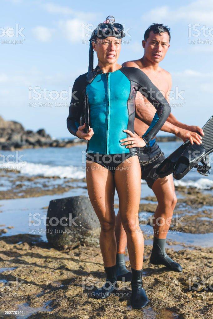 Hawaiian Snorkeling royalty-free stock photo