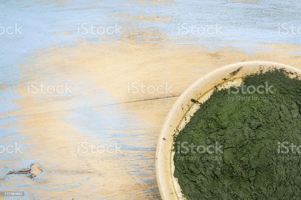 Hawaiian spirulina powder royalty-free stock photo