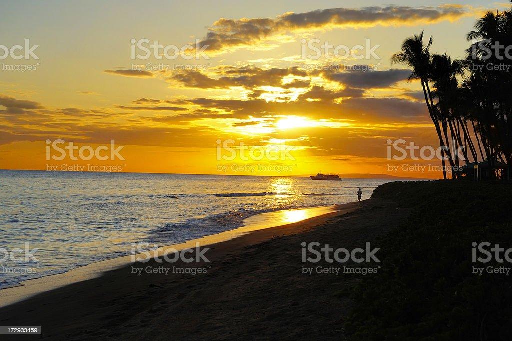 Hawaiian Sunset royalty-free stock photo