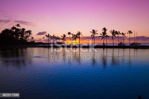 istock Hawaiian sunset 502317030