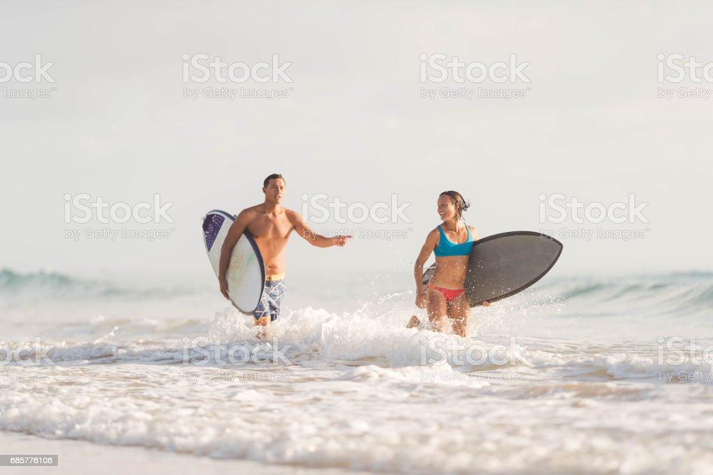 Hawaiian Surf Life royalty-free stock photo