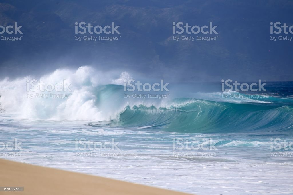 Hawaiian Winter Waves royalty-free stock photo